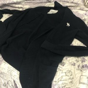 Abercrombie & Fitch Cardigan Sweater - Navy